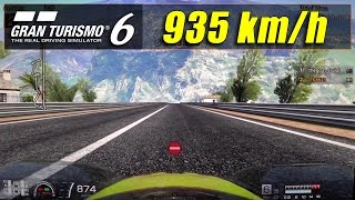 GT6 - 90 Degrees Downhill 935 km/h Top Speed (1080p) HD