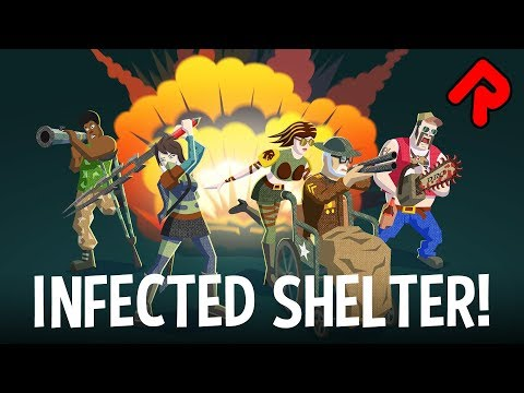INFECTED SHELTER gameplay: Hilarious Roguelite Brawler! (PC Early Access game)