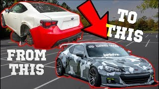Rebuilding a Salvage Auction WIDEBODY CAMO BRZ in 10 minutes like THROTL