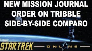 Star Trek Online - New Federation Faction Mission Journal Streamlining on Tribble Comparison