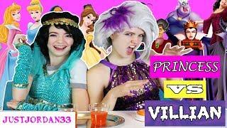 DISNEY PRINCESS VS VILLAIN CHALLENGE / JustJordan33