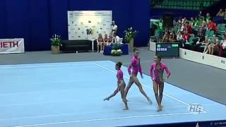 Acrobatic Gymnastics World Championships 2010 - Russia Women's Group 1st place