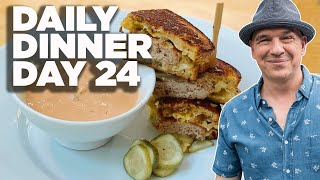 Cook Along With Michael Symon   Pork And Kraut Patty Melts   Daily Dinner Day 24