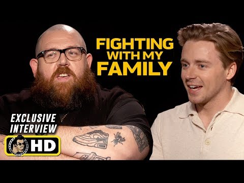 Nick Frost and Jack Lowden Interview for Fighting With My Family