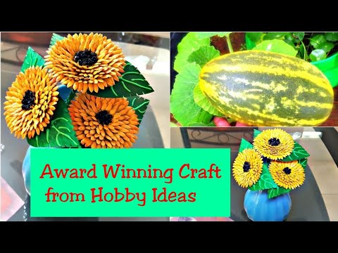 How to make flowers using waste materials