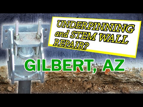 Gilbert, Arizona Stem Wall Repair & Underpinning