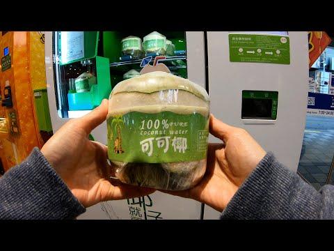 Coconut and Orange Juice Vending Machine