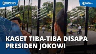 Viral Video Seorang Pemuda yang Niat Bikin Vlog Malah Kaget Tiba-tiba Disapa Presiden Jokowi