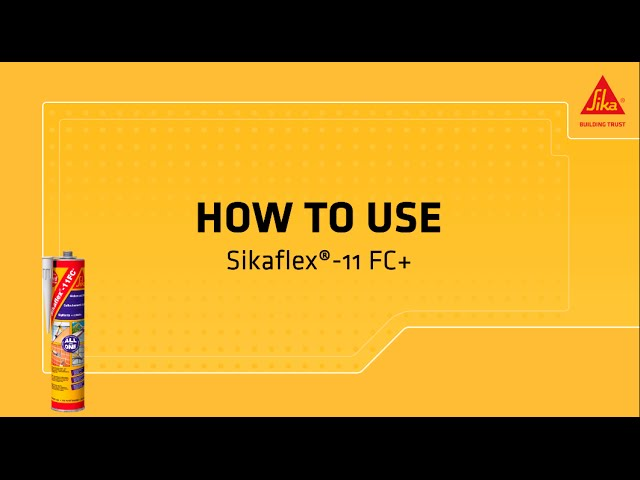 instructievideo Sikaflex 11 FC+ 300ml