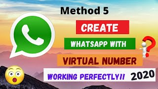 Free virtual number for whatsapp & create fake whatsapp account  2020🔥| US number #5