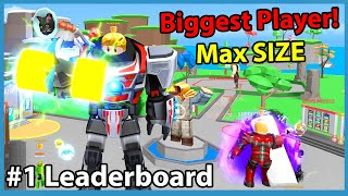 Strongest Player On Leaderboard! 400 Trillion Muscle & Max Size - Roblox Fitness Simulator