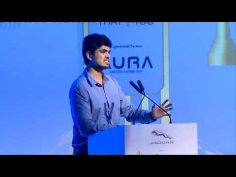 Hrishikesh Datar at Jaguar RITZ Entrepreneurship Summit 2016, Chennai
