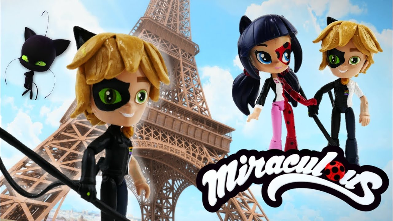 Miraculous Ladybug Cat Noir Adrien Split Doll Transformation with Equestria Girls Minis
