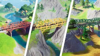 Dance at the Green Steel Bridge, Yellow Steel Bridge and Red Steel Bridge Locations - Fortnite
