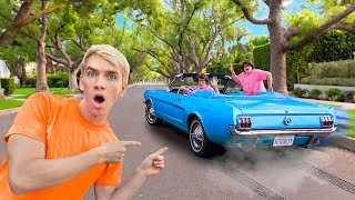 MYSTERY NEIGHBOR ESCAPES with TWIN SISTER in UNDERCOVER SPY CAR!!