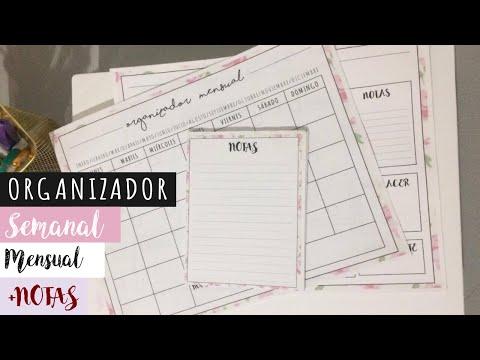 DIY Organizador Semanal, Mensual y Notas