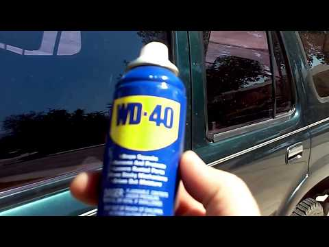 One of the many uses of WD40 for your car