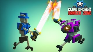 Мультик для детей про БИТВУ РОБОТОВ клонов на АРЕНЕ как Minecraft Clone Drone in the Danger Zone