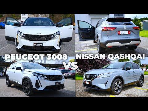 New Nissan Qashqai VS Peugeot 3008 Facelift 2022