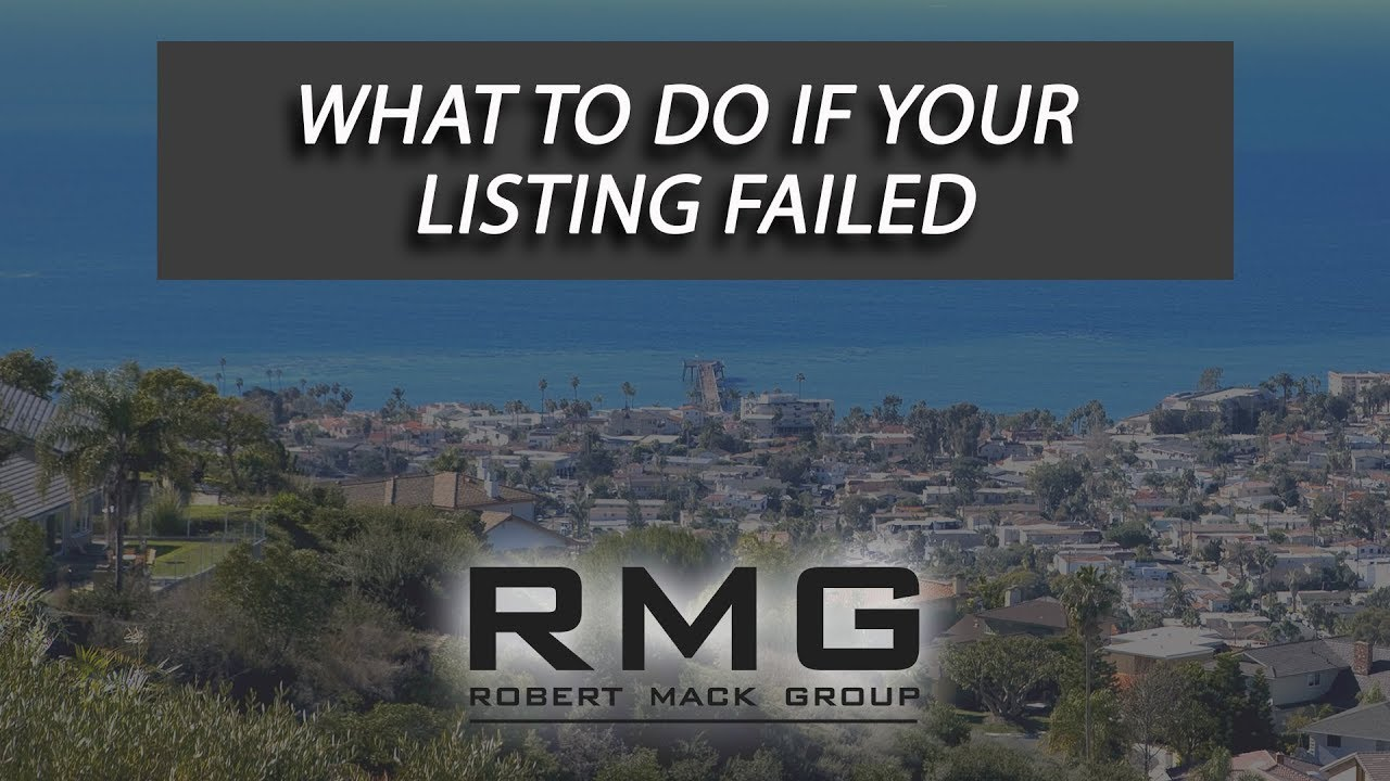 What to Do If Your Listing Failed