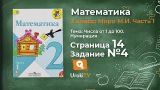 Страница 14 Задание 4 – Математика 2 класс (Моро) Часть 1