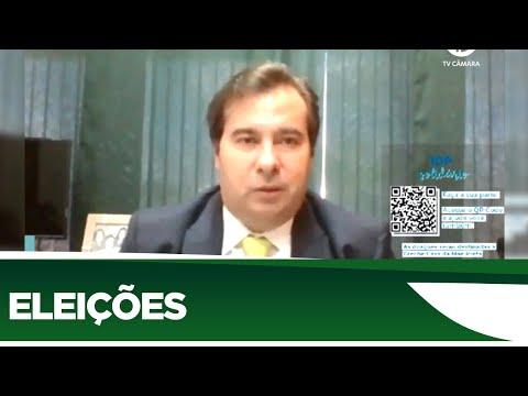 Maia afirma que ainda não há votos para aprovar adiamento das eleições - 25/06/20