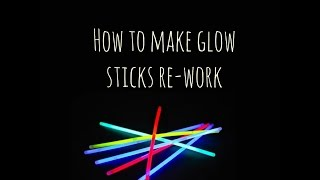 How to fix/Re-light your glow sticks!