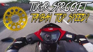 #384 TUKAR SPROCKET SYM VF3I | TAMBAH TOP SPEED??| LSWmotovlog