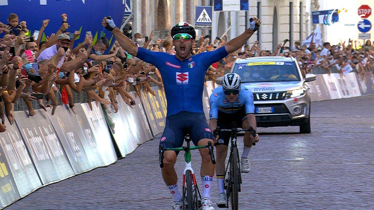 Trento 2021: la corsa Elite di Sonny Colbrelli