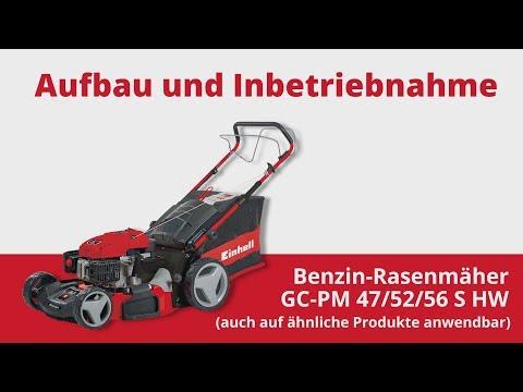 Aufbau und Inbetriebnahme des Einhell Benzin Rasenmähers GC PM 52 S HW