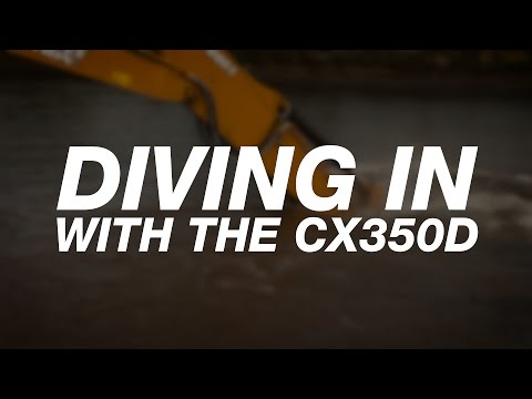 North America: CX350D Works More, Burns Less for Gagne Excavation