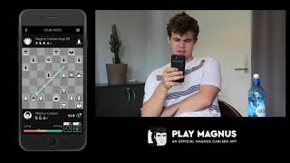 Magnus Carlsen vs. Himself at Age 18 on the Play Magnus app