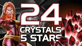 24 CRYSTALS 5 STARS mega apertura  | Marvel Contest of Champions