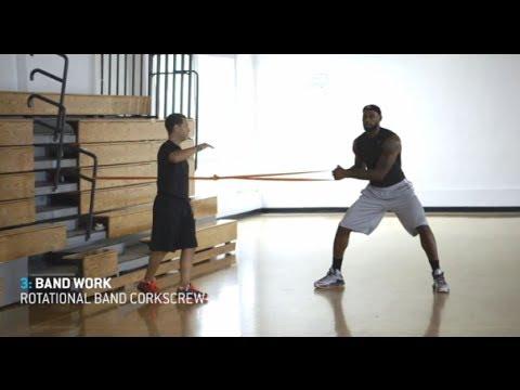 1 ώρα εξάσκησης στο basket από τον LeBron James