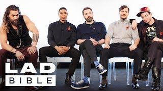 Download Youtube: Justice League's Jason Momoa, Ben Affleck, Henry Cavill, Ezra Miller and Ray Fisher Jam Together
