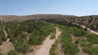 Drone vid of 238 acres for sale in Arabela NM