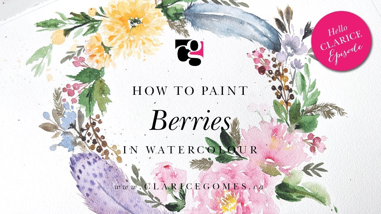 How to Paint Berries in Watercolour