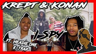 Krept & Konan   I Spy (Official Video) Ft. Headie One, K Trap   REACTION
