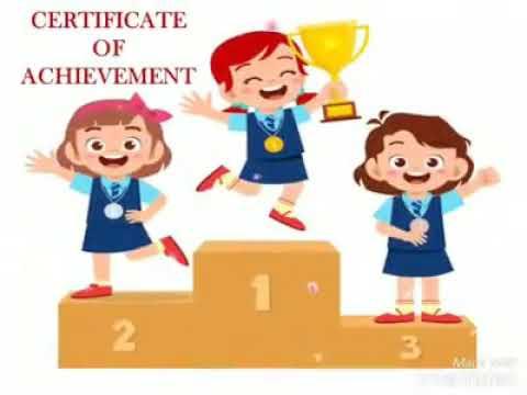 (Grade I-V) Appreciation Certificates for Online Competitions.