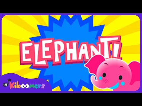 One Elephant Went Out To Play | Kids Song | Nursery Rhyme | The Kiboomers