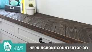 Herringbone Countertop DIY