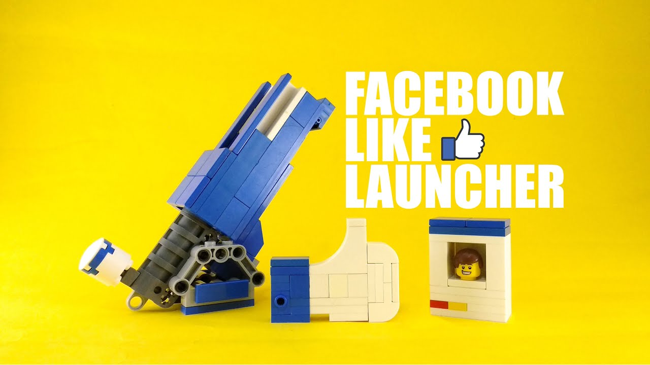 Facebook Lego Like Button Launcher | 4K