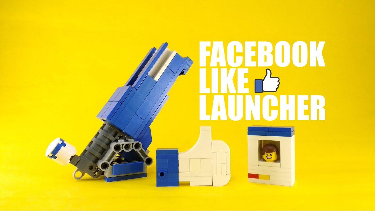 Facebook Lego Like Button Launcher | 4K