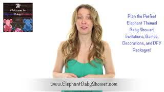 Elephant Baby Shower Girl