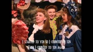 The Trolley Song by Judy Garland with lyrics on screen