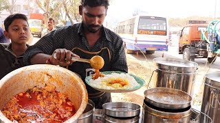 Chicken Rice/Boti Rice/Fish Rice @ 60 Rs Only | Indian Street Food | Hyderabad StreetFood