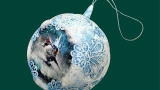 Handmade Christmas tree ball. Новогодний елочный шар своими руками