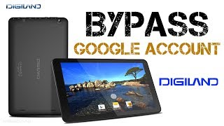 Bypass google Account Digiland  Remove FRP