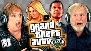 Elders Play Grand Theft Auto V (Elders React: Gaming) [RUS VO by IndivIdualist]
