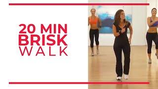 20 Minute Brisk Walk | Walk At Home Workouts